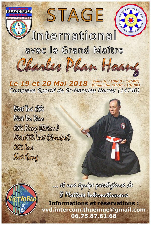 Stage Grand Maitre Phan Hoang Caen 2018
